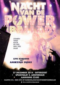 Nacht van de Powerballad II in Bitterzoet